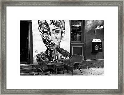 Hepburn On Mulberry Street Framed Print by John Rizzuto