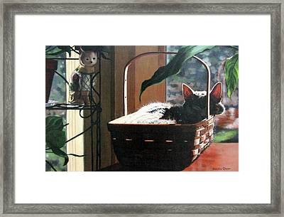 Her Basket Framed Print
