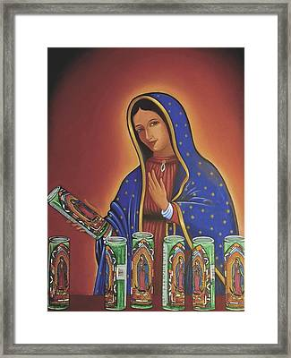 Her Candles Framed Print by James Roderick