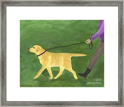 Her Dog Took Her Everywhere Framed Print