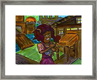 Her Doll Land Framed Print