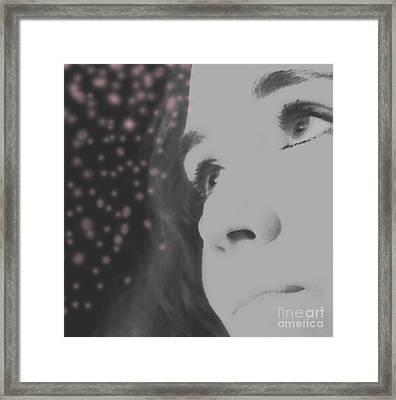 Her Energy Framed Print