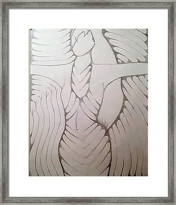 Her Energy Framed Print by Decreasa Williams