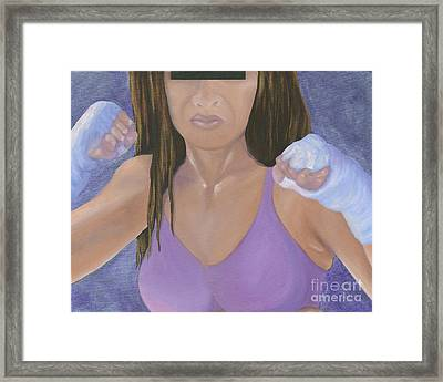Her Fight Framed Print by Karen Feiling