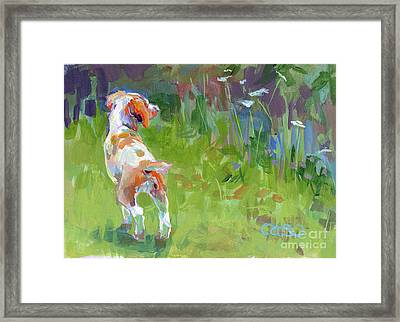 Her First Point Framed Print by Kimberly Santini
