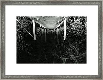 Car Lights And Heels Over Head In Love Framed Print