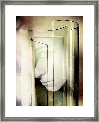 Her Glass Facade Framed Print