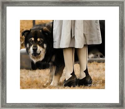 Her Guardian  Framed Print by Steven Digman
