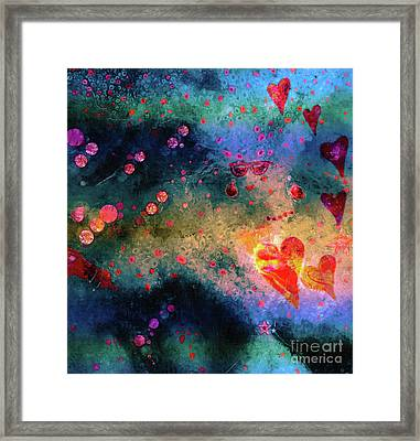 Framed Print featuring the painting Her Heart Shines Through by Claire Bull