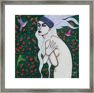 Framed Print featuring the mixed media Her Heart Was Wild by Natalie Briney