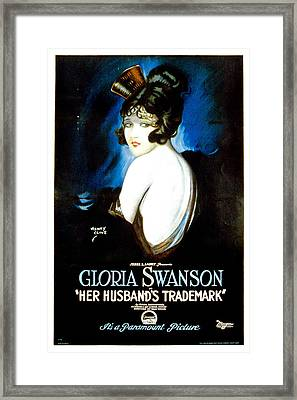 Her Husbands Trademark, Gloria Swanson Framed Print by Everett