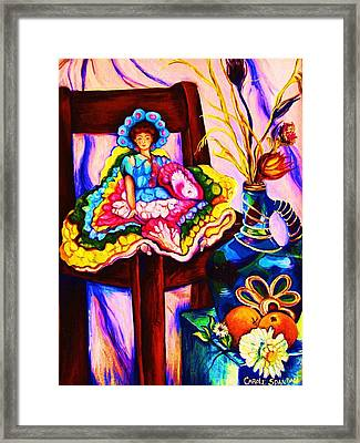 Her Little Parasol Framed Print by Carole Spandau