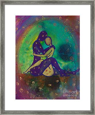 Her Loves Embrace Divine Love Series No. 1006 Framed Print by Ilisa Millermoon