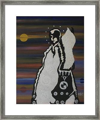 Framed Print featuring the painting Her Name Is Balance by Carolyn Cable
