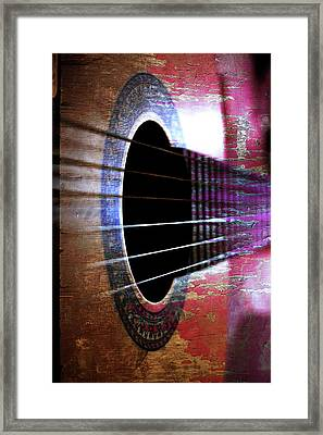 Her Old Guitar Framed Print by Rozalia Toth