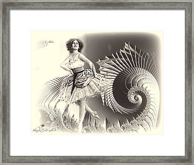 Her Own Personal Dragon Framed Print by Kira Bodensted