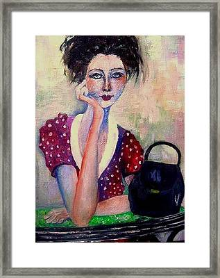 Her Purse Framed Print
