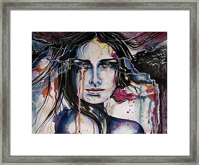 Framed Print featuring the painting Her Sacrifice by Geni Gorani