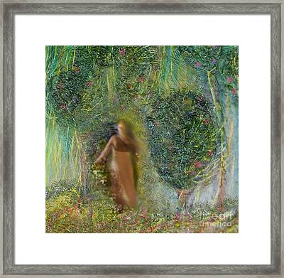 Her Secret Garden Framed Print by Michaela Kraemer