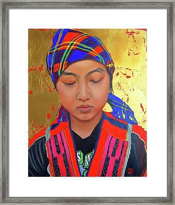 Her Story Framed Print
