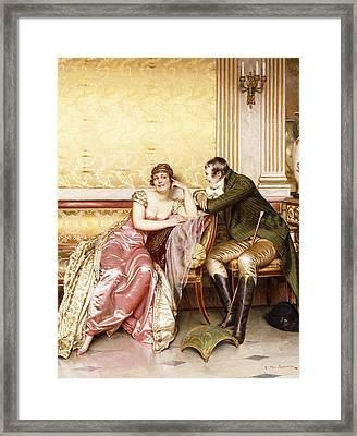 Her Suitor Framed Print