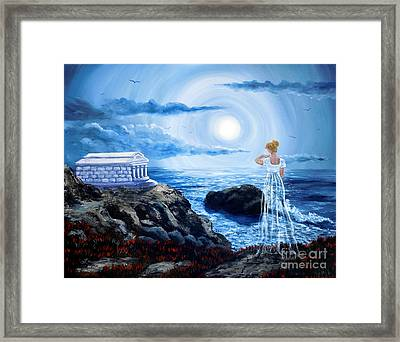 Her Tomb By The Sounding Sea Framed Print by Laura Iverson