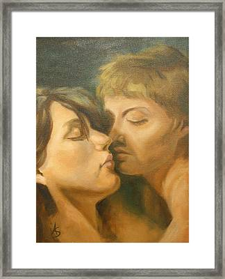 Her Unmitigated Passion II Framed Print by Alison Schmidt Carson