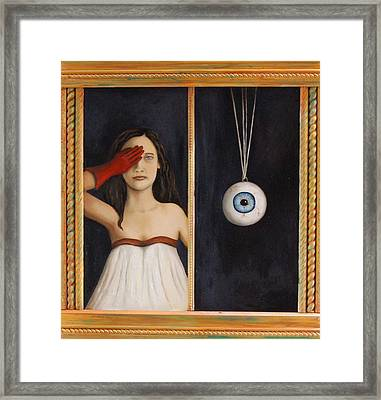 Her Wandering Eye Framed Print by Leah Saulnier The Painting Maniac