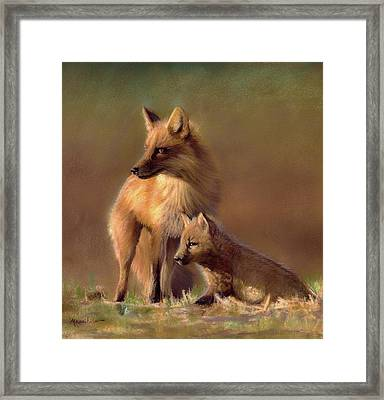 Her Watchful Eye Framed Print