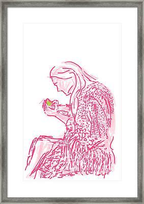 Her World Framed Print