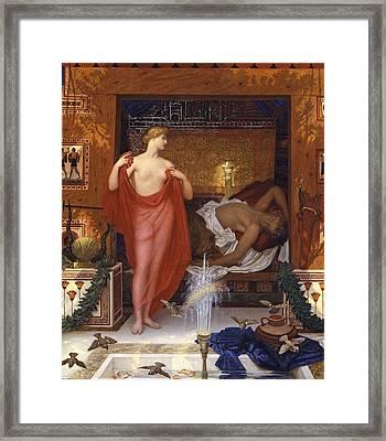 Hera In The House Of Hephaistos Framed Print by William Blake Richmond