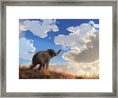 Heralding The Dawn Framed Print by Daniel Eskridge