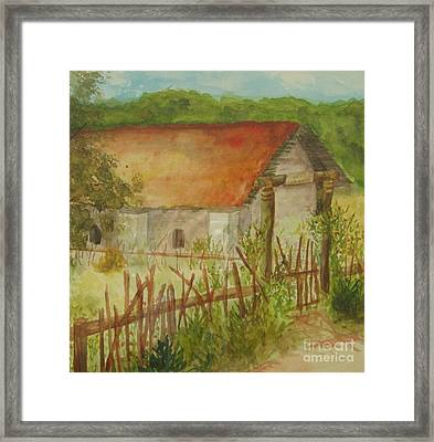 Framed Print featuring the painting Herb Garden by Vicki  Housel