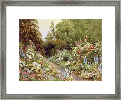 Herbaceous Border  Framed Print by Evelyn L Engleheart