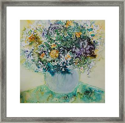Framed Print featuring the painting Herbal Bouquet by Joanne Smoley