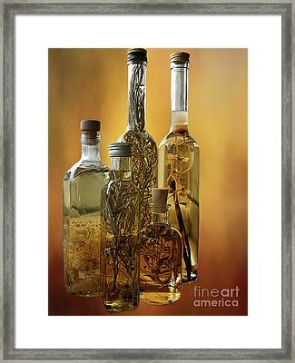 Herbed Vinegar Framed Print