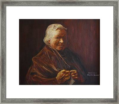 Framed Print featuring the painting Herbert Abrams Mother by Quwatha Valentine