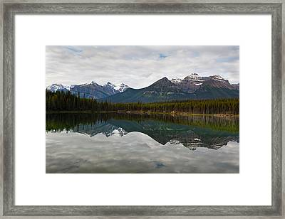 Herbert Lake Reflections  Framed Print by George Oze