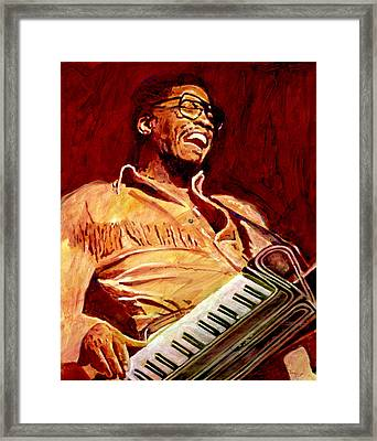 Herbie Hancock Rockit Framed Print by David Lloyd Glover