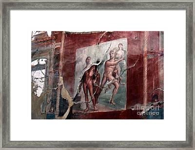 Herculaneum Fresco Framed Print by Erik Falkensteen