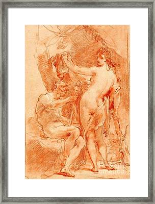 Hercules And Omphale Framed Print by Pg Reproductions