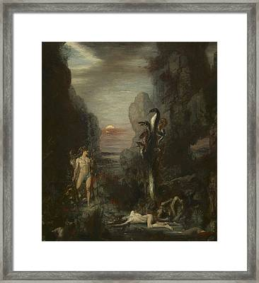 Hercules And The Lernaean Hydra Framed Print by Gustave Moreau