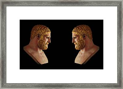 Framed Print featuring the mixed media Hercules - Blondes by Shawn Dall