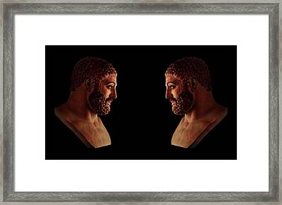 Framed Print featuring the mixed media Hercules - Brunettes by Shawn Dall