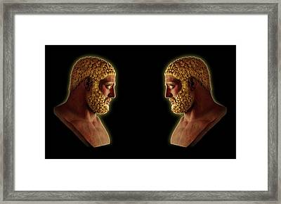 Framed Print featuring the mixed media Hercules - Golden Gods by Shawn Dall