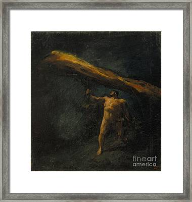 Hercules Searching For The Hesperides Framed Print by Celestial Images