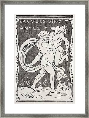 Hercules Slays Augeas After Augeas Framed Print by Vintage Design Pics