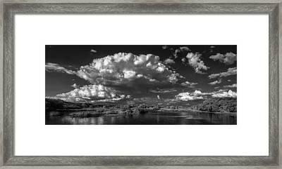 Herd Of Clouds Framed Print by Jon Glaser