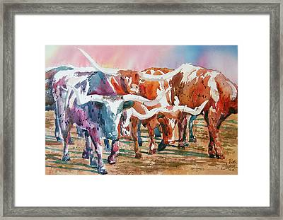 Herd Of Horns Framed Print by Ron Stephens