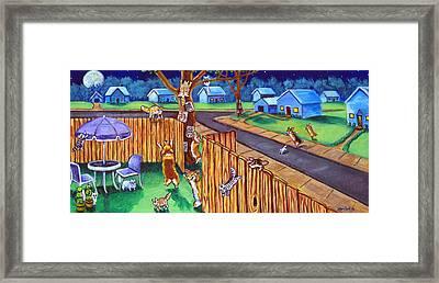 Herding Cats - Pembroke Welsh Corgi Framed Print